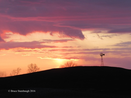 sunset, Ohio's Amish country