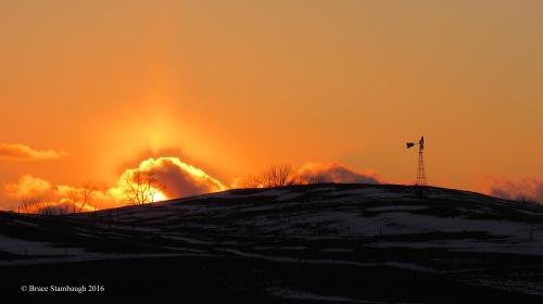 glowing sunset, Ohio