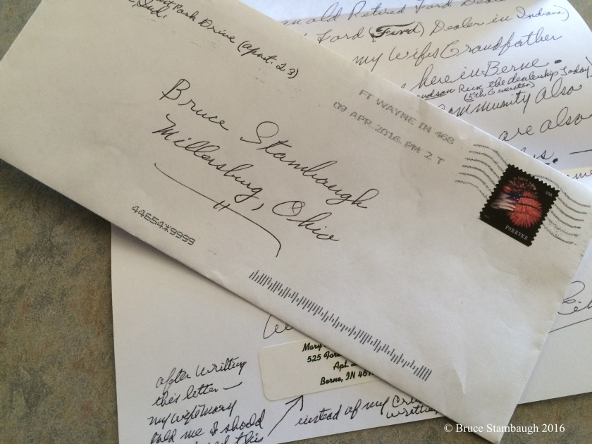 poorly addressed letter