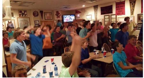 Amish boys, celebration