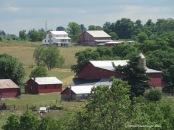 Amish farms, sun reflection