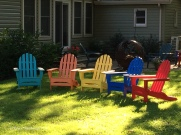 painted chairs, Lakeside OH