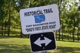 Port Washington Road, trail marker