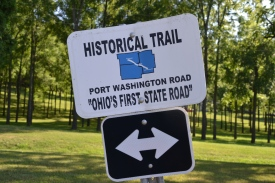 Port Washington Road, trail marker