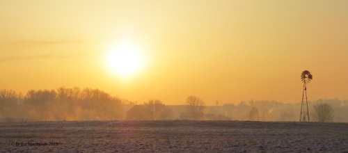 foggy morning, Ohio's Amish country