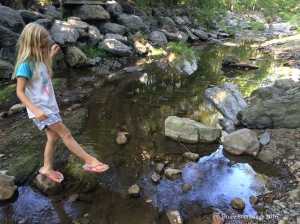 girl in stream
