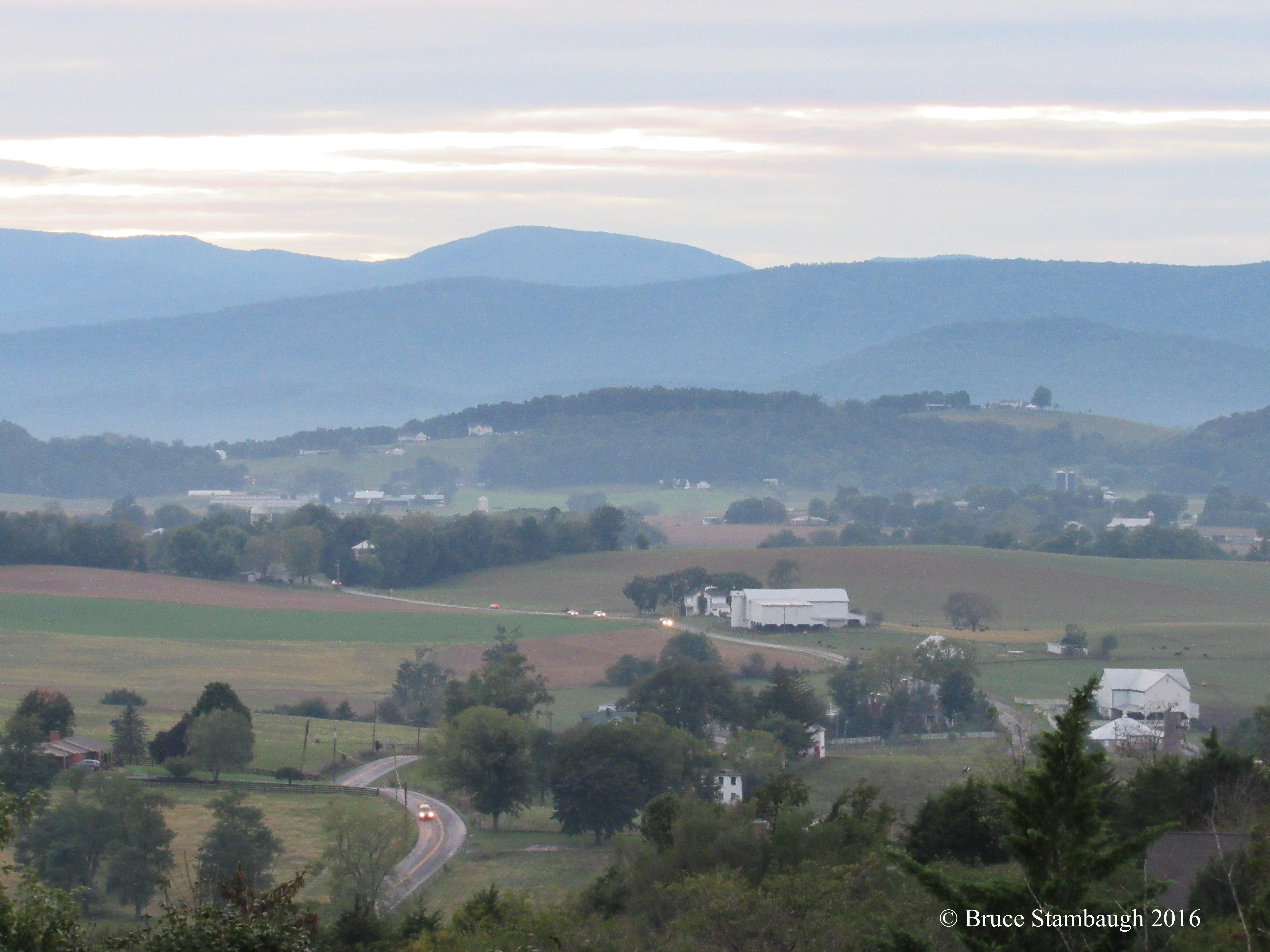 Shenandoah Valley, dusk