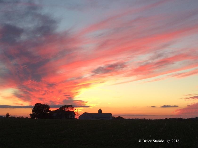 melancholy sunset