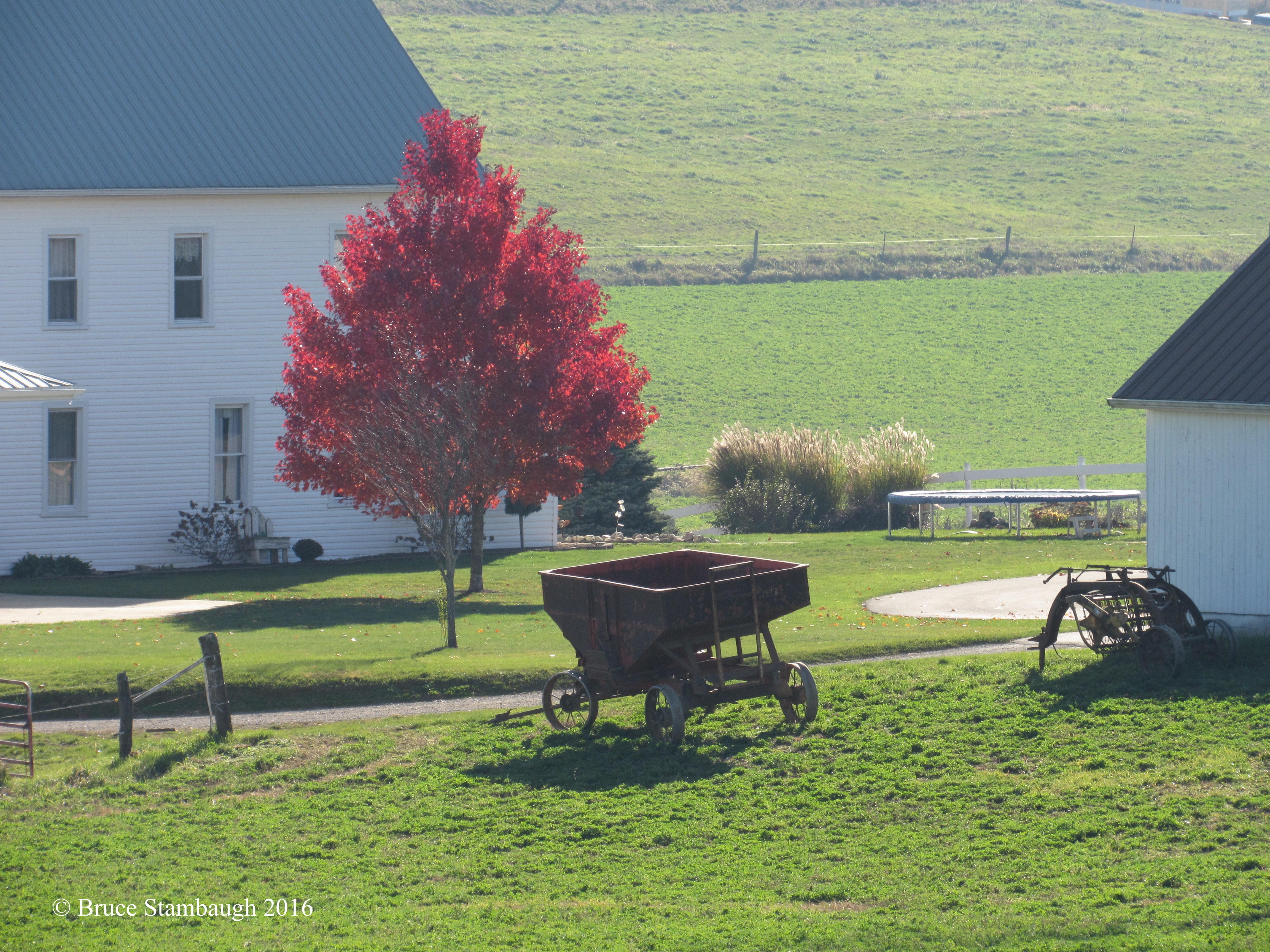 Amish farmstead, farm implements