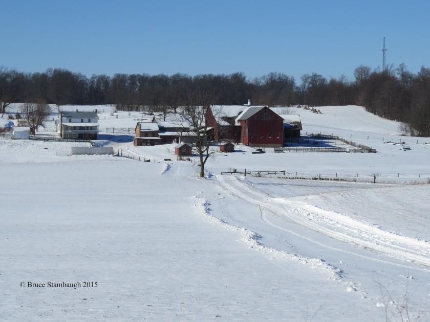 Ohio's Amish country, snow, Amish farm