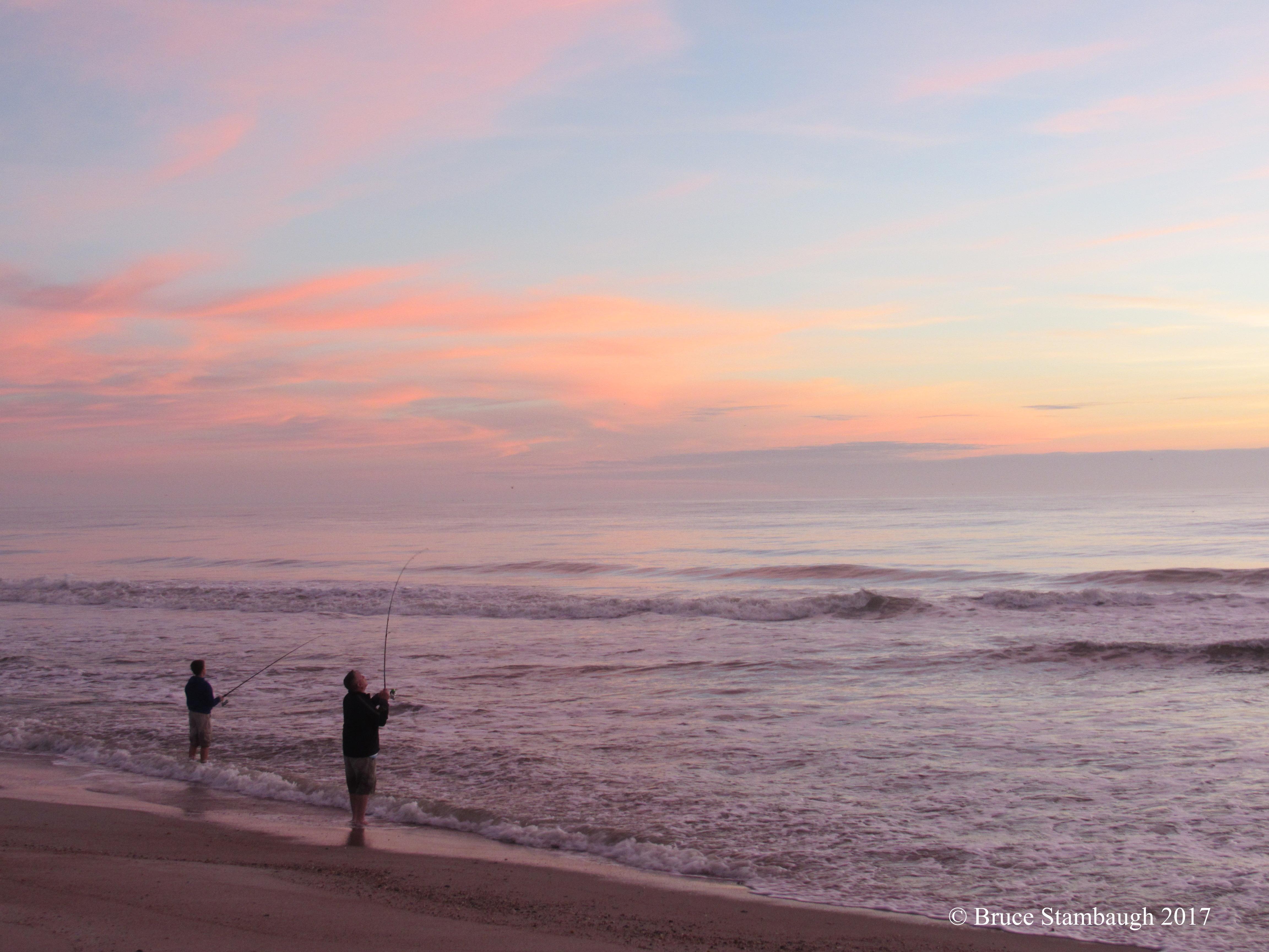 shoreline fishing, Atlantic Ocean