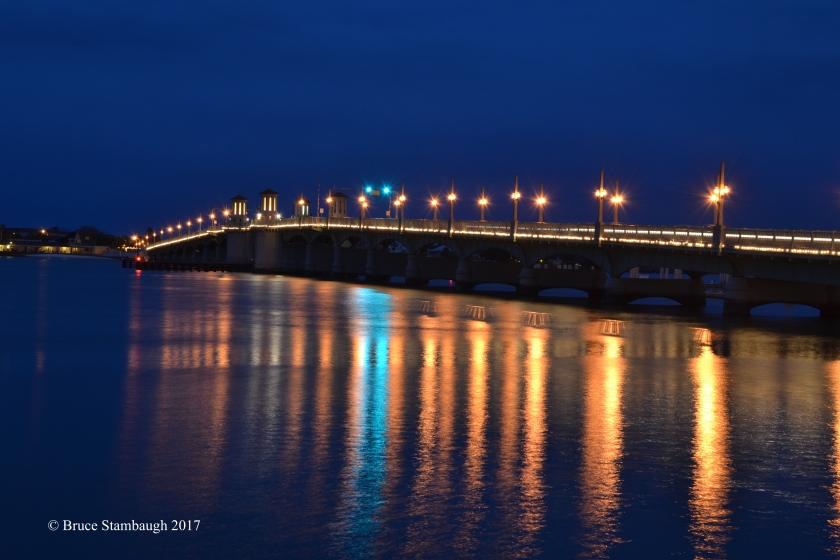 Usina Bridge, St. Augustine FL, night shot