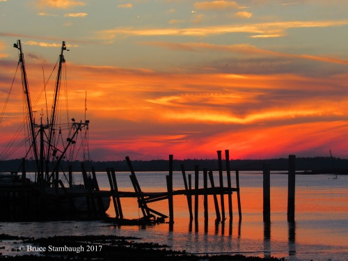 sunset, Amelia River, Fernandina Beach FL