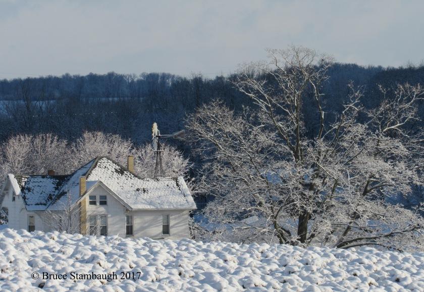 Ohio snow, Amish farm