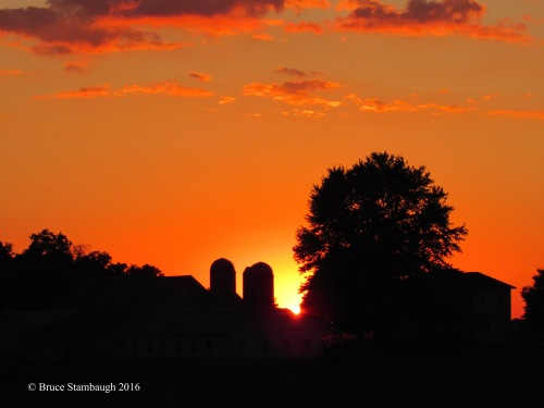 summer sunset, Holmes Co. OH