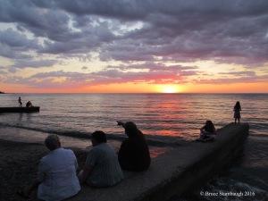 Geneva-on-the-Lake OH, Lake Erie, sunset