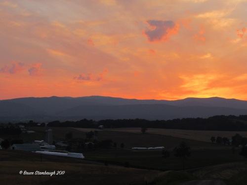 Rockingham Co. VA sunset, Shenandoah Valley VA