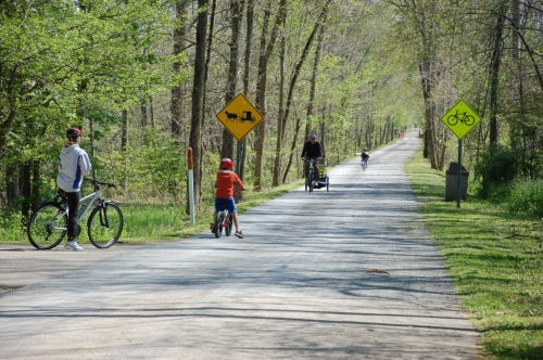 biking, Holmes Co. OH trail