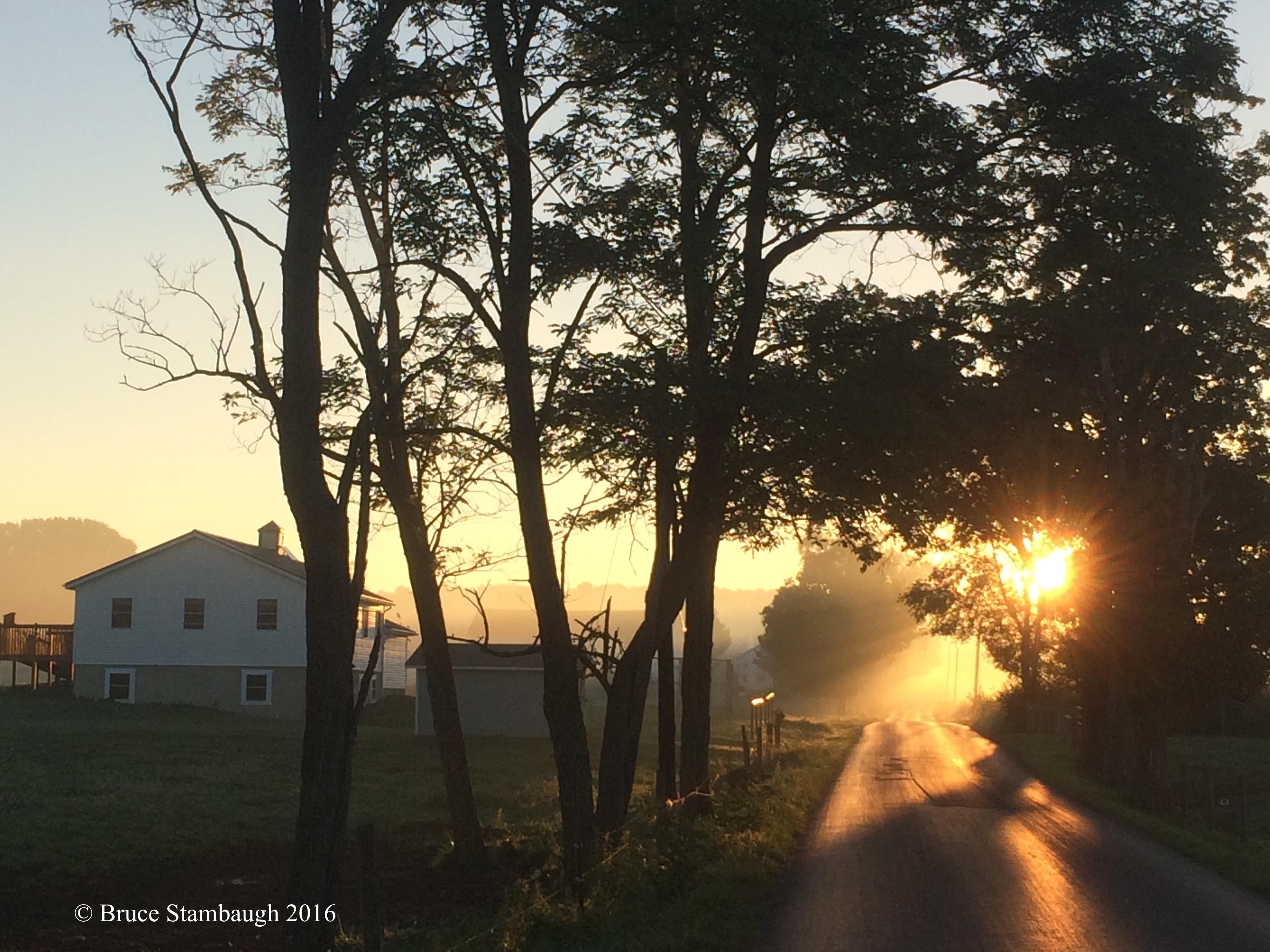 Ohio's Amish Country sunrise