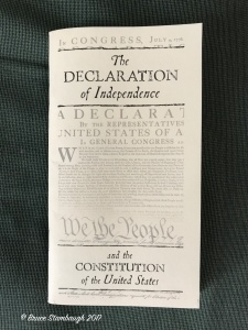 Declaration of Independence, U.S. Constitution