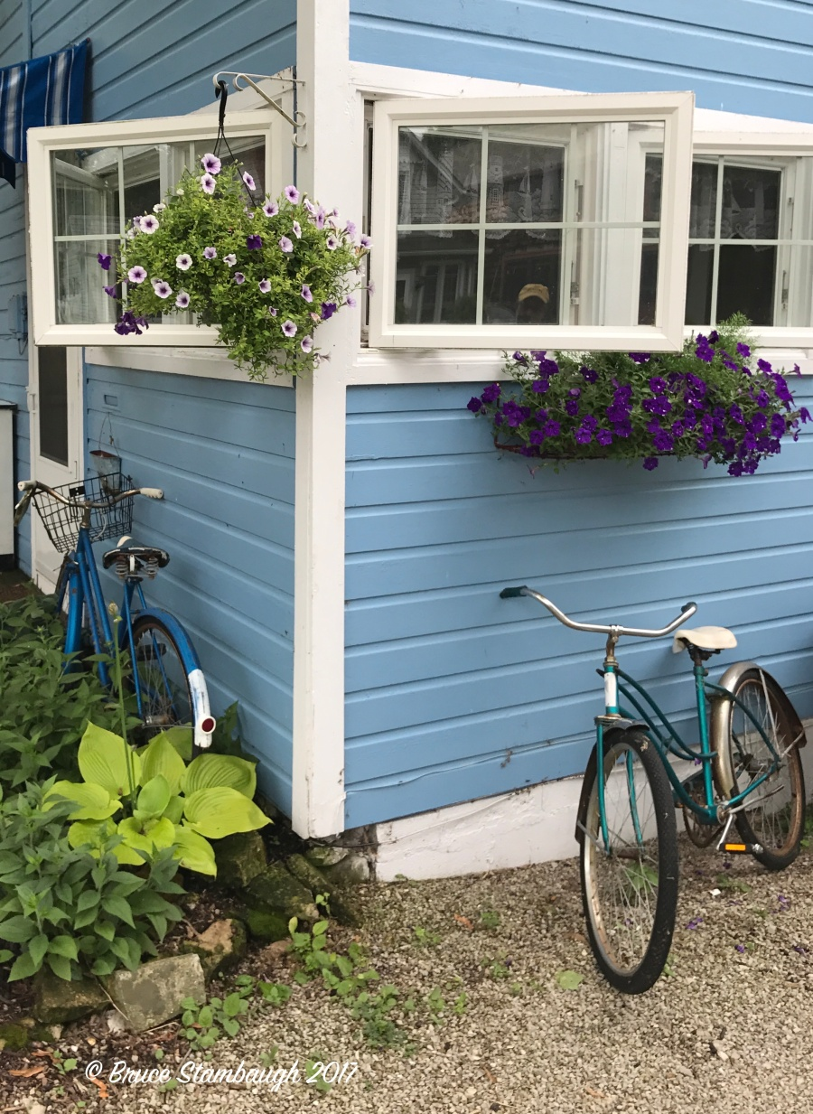 bicycles and cottage, Lakeside OH