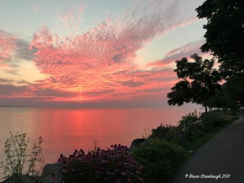 sunrise, Lake Erie