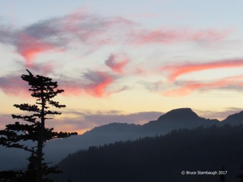 sunset, Mt. Rainier NP
