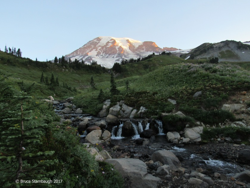 Mt. Rainier at sunrise, Mt. Rainier National Park