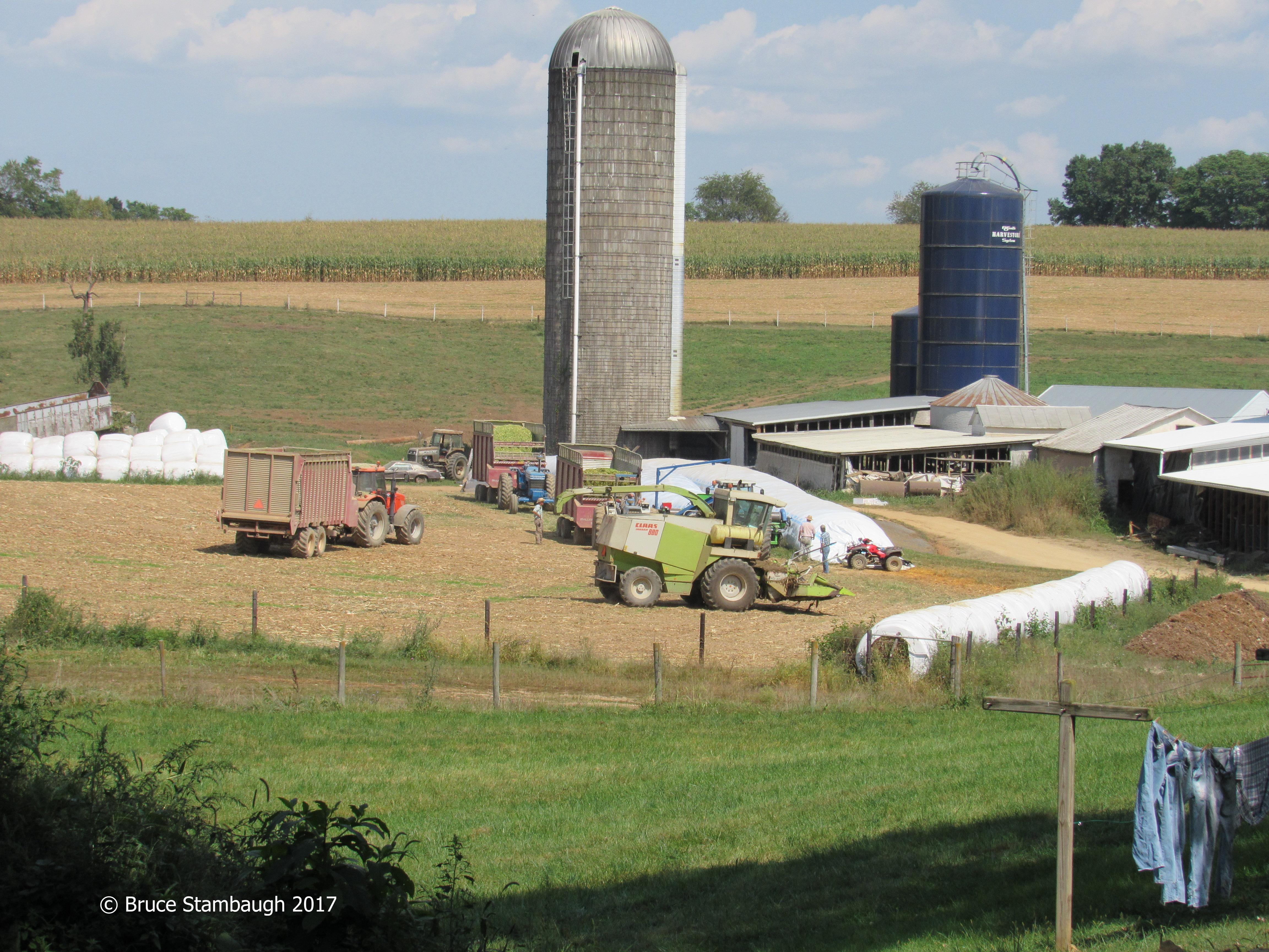 Shenandoah Valley farm, large farm equipment