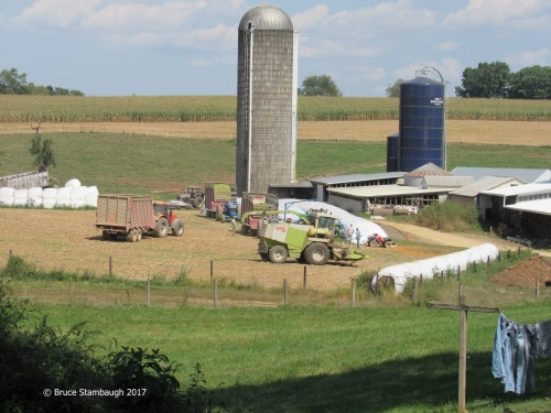 Shenandoah Valley farm, large farm equipment