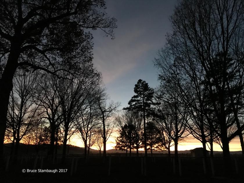 Old Order Mennonite church, sunset in the Shenandoah Valley