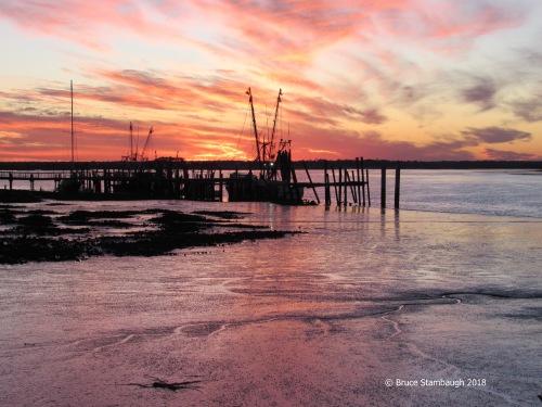 Florida, sunset, Amelia River