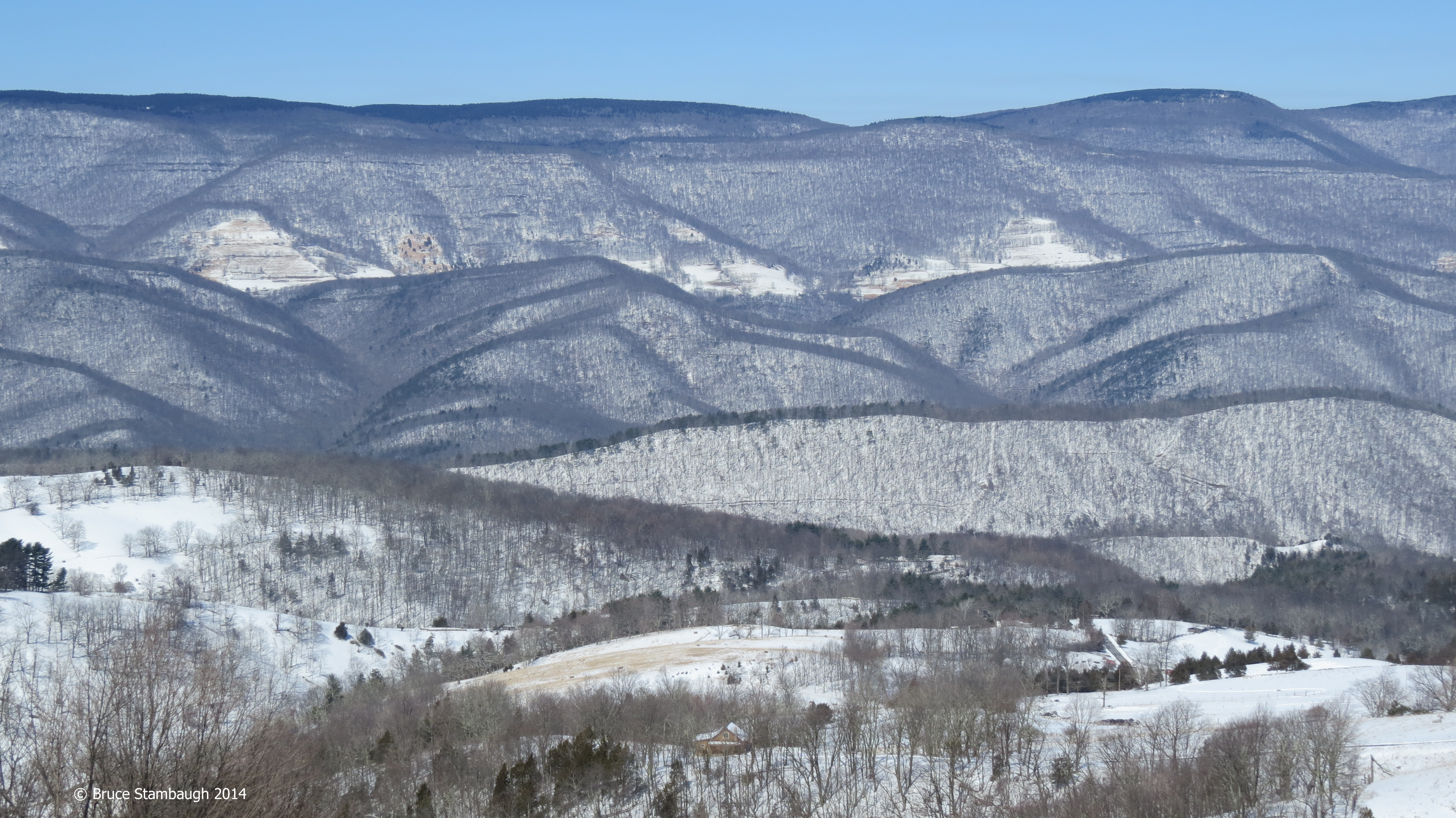 Allegheny Mountains, snowstorm, Gap WV