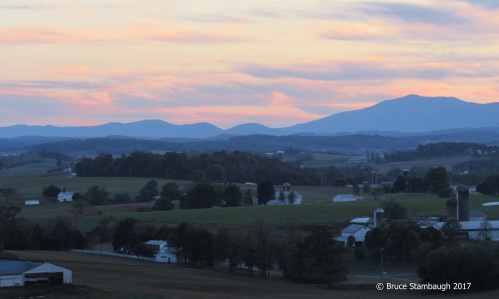 Allegheny Mountains, sunset, Shenandoah Valley VA