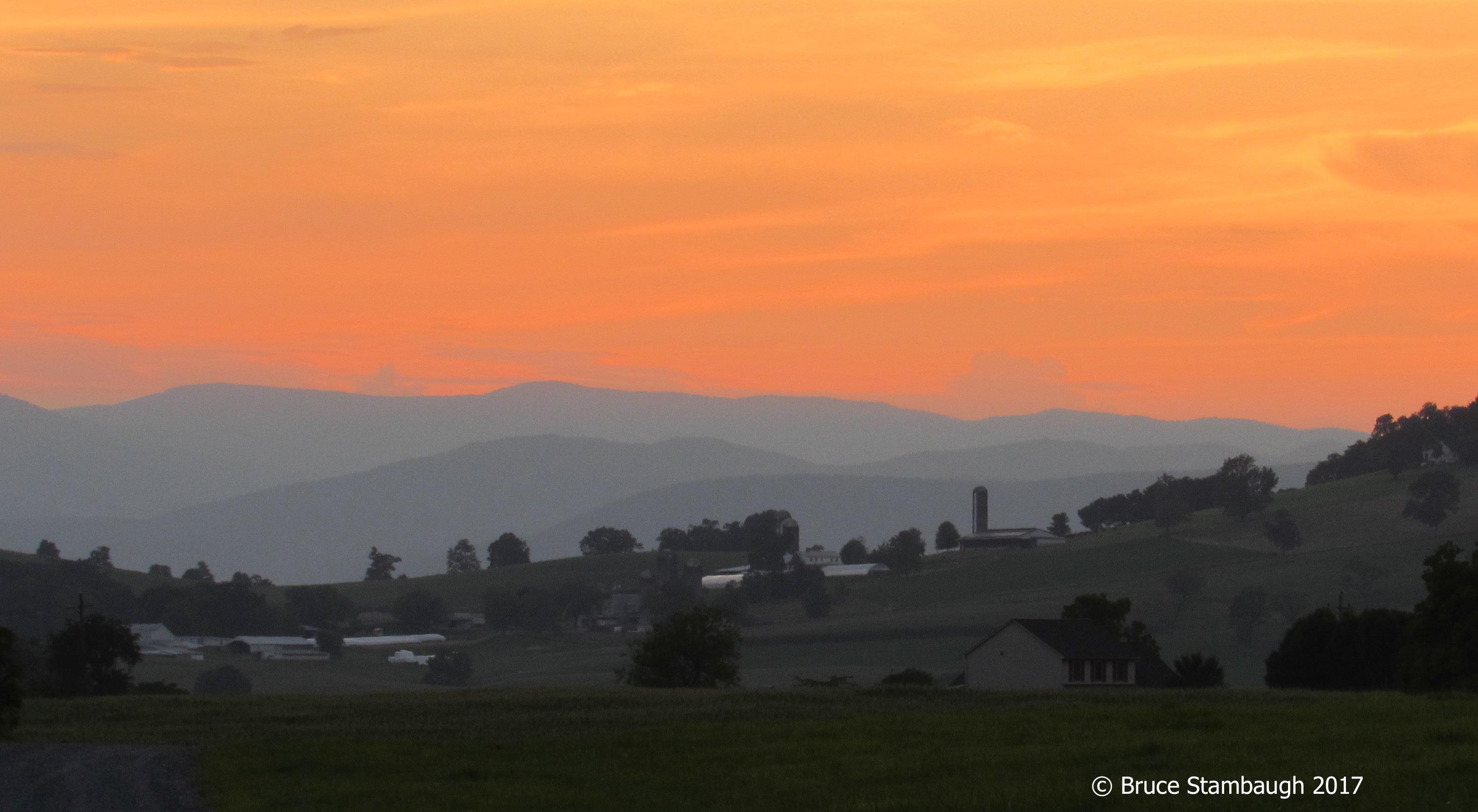 August, sunset, Virginia
