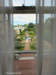 The garden from the upstairs.