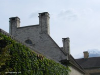 Mansion chimneys.