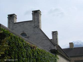 Mansion chimneys.