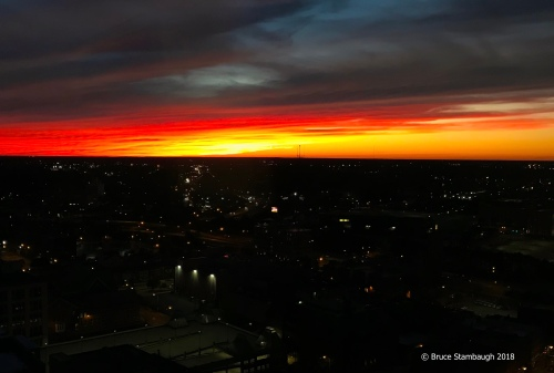 autumnal equinox sunset, Rochester NY