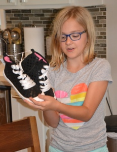Granddaughter's new shoes
