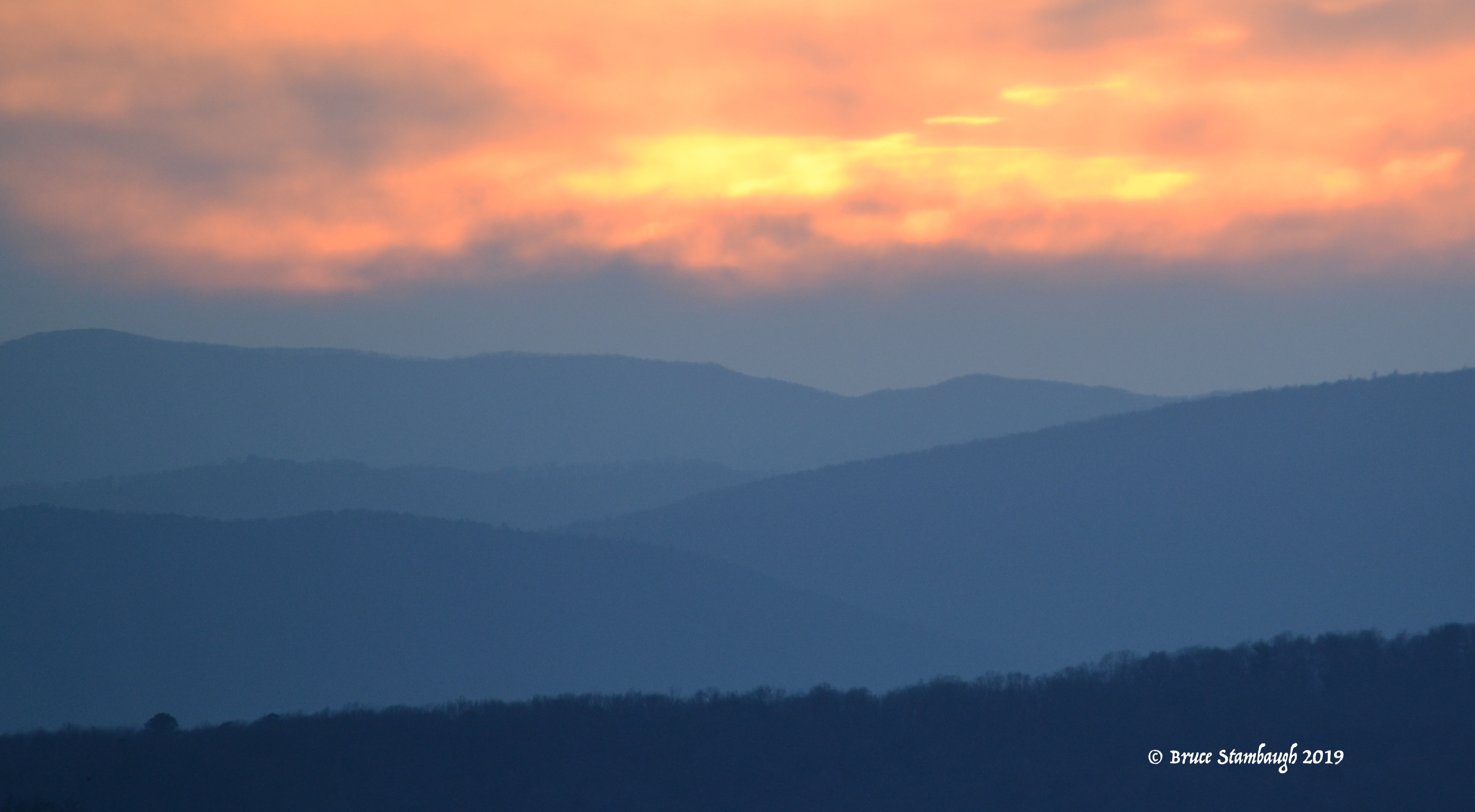 impressionism, Allegheny Mountains, sunset