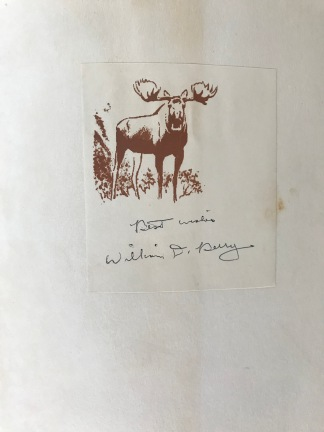 The signed inside cover.