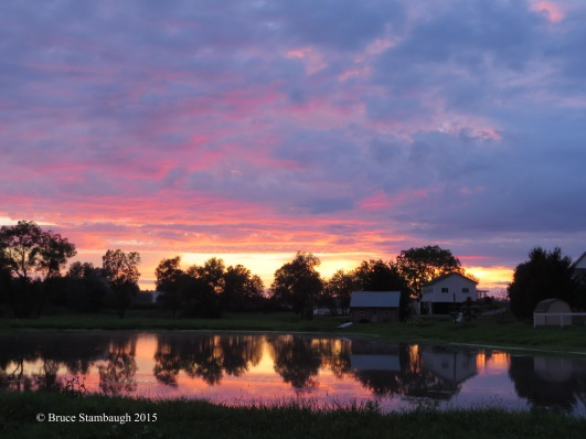 September sunset by Bruce Stambaugh